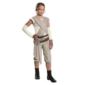 NEW Star Wars The Force Awakens Deluxe Rey Costume